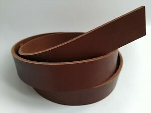 "Leather Strip Strap Band. Leather Belt Blank Strips. 8-9 oz 51-55"" Dark Cognac"