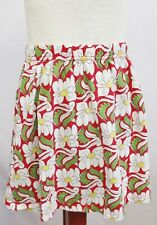 HANNA ANDERSSON Girls Red & White Floral Print 100% Cotton Skirt Size 10