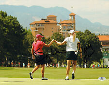 STACY LEWIS BRITTANY LINCICOME SIGNED AUTO 11X14 PHOTO BAS COA LPGA SOLHEIM CUP
