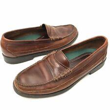 Sebago Mens 12 D Moccasin Boat Dock Shoes Slip On Penny Loafer Brown Leather
