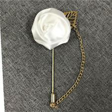 Wedding Flower Corsage Lapel Pin Brooch Suits Boutonniere Suit Stick Pin 9colors