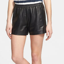 Vince Perforated Leather Flat Front Casual Boxer Shorts S NWT! $495