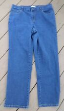 CJ Banks Womens Blue Jeans Size 16W Cotton Blend 38x30 Flare Legs