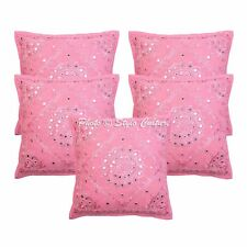 Vintage Abstract Cotton Cushion Cover  Embroidery Sofa PillowCase Cover 16 Throw