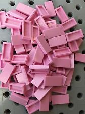Lot Of 100 New Lego Smooth Finishing Flat Tiles LightPink 1x2 Roof Floor Friends