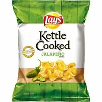 Lay's Kettle Cooked Jalapeno Flavored Potato Chips,  (Pack of 40)