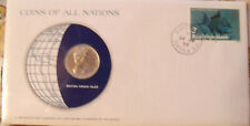 Coins of All Nations British Virgin Islands 25 cents 1979 FM(U) UNC 680 Mintage
