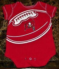 "NEW"" Tampa Bay Buccaneers NFL ~ Logo INFANT CREEPER BODYSUIT ~ Sz 3M 6M Football"