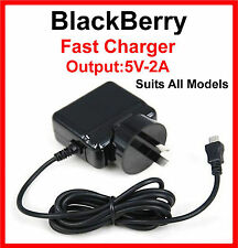 BlackBerry Z30 Z10  Q10 Q5 Fast Wall AC Charger 5V-2A