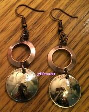 2012 LUCKY PENNY EARRINGS SOLID COPPER RINGS! 5th ANNIVERSARY HANDMADE GIFT!