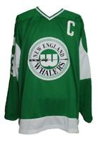 Any Name Number Size New England Whalers Retro Custom Hockey Jersey Green