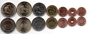 Philippines set 7 coins 1 5 10 25 Sentimo 1 5 10 Piso 1993 - 2011 UNC / aUNC