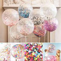 5pcs 12'' Confetti Latex Balloons Wedding Birthday Party Baby Shower Decoration