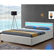 Polsterbett Doppelbett Kunstlederbett Lyon 140 x 200cm weiß - B-Ware