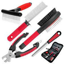 Large Dog Grooming Kit Professional Comb+Nail Clipper+Scissor+Slicker+Brush Set