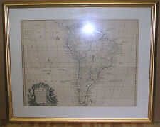 AN ACCURATE MAP OF SOUTH AMERICA by Bowen, Circa 1770-90
