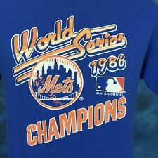 Vtg 1986 New York Mets World Series Champions T-Shirt Medium 80s mlb baseball