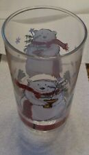 "pfaltzgraff Snow Bear Glasses, Tumblers, 14oz approx 6"" tall, set of (5)FIVE d9"