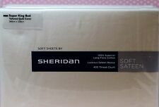New Sheridan Soft Sateen 400 Thread Count Superking Tailored Quilt Cover RRP£155