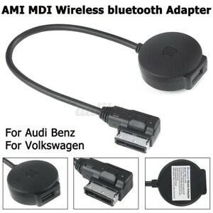 Wireless bluetooth Music AMI MMI MDI AUX Adapter Cable USB For Audi Benz VW 3G