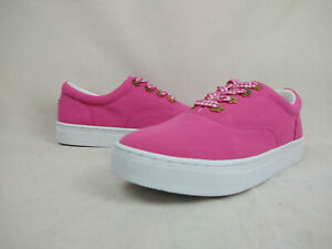 Details about  /Isaac Mizrahi Live Bobbie Pink Ruby Lace Sneakers Shoes Womens Size 8 M US