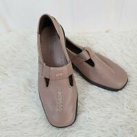 Hotter Comfort Concept Sunset Flat Shoes UK 5 Beige Hook Loop Fastening Leather