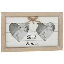 Shabby Chic Vintage Style Natural Double Dad & Me Photo Frame 62161