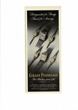 VINTAGE 1947 GIRARD PERREGAUX FINE WATCHES MEN'S WOMENS' DISTINGUISHED AD PRINT
