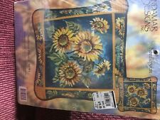 Candamar Designs needlepoint kit, sunflowers, unopened