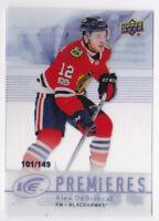 17-18 UD Ice Alex DeBrincat /149 Rookie Premieres 07-08 Retro Blackhawks 2017