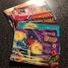 """1995 MARVEL OVERPOWER COLLECTABLE CARD GAME """"CHARACTER CARDS"""" UPDATED 4-27-2020"""