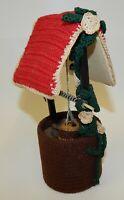 "Vintage Hand Crocheted 9"" Wishing Well"