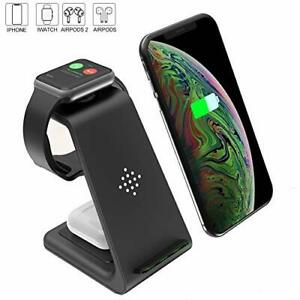 Wireless Charger 3 in 1 Charging Station for Apple Watch Series 5/4/3/2/1 and