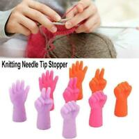 6PCS Knitting Needles Point Protectors Needle Tip Stopper Tool Sewing Weave L1O2