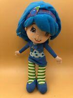 Strawberry Shortcake Blueberry Muffin Plush Kids Soft Stuffed Toy Doll Blue Girl