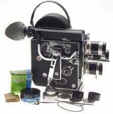 H8 BOLEX reflex 8mm film camera kit 3 turret Macro lenses 12.5mm 5.5mm 36mm more