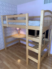 Twin Loft Bed over Desk Kids Teen Natural Birch Wood -Used- Local Pickup Only