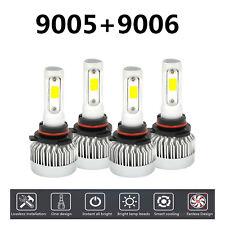 4PCS 9005+9006 6000K 340W 42100LM LED Headlight Kit Light Bulbs White Color
