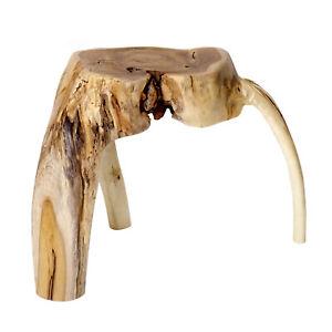 Side Table Teakwood Coffee Table Stool Wurzeltisch Table Solid Wood Heavy