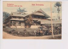 1908+ Dutch Indies Hoofdgebouw Health Resort Hotel Color Postcard