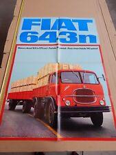 RARO MANIFESTO POSTER ORIGINALE CAMION FIAT 643 N 643N
