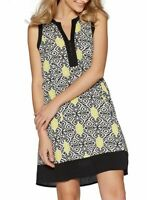 QUIZ Multi Coloured Aztec Print Sleeveless Shift Dress - SIZE UK 8