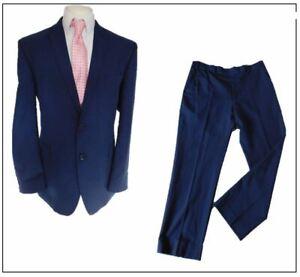 """Debenhams The Collection mens 2 piece suit Ch46""""R W36"""" L29"""" Navy Blue Smart"""