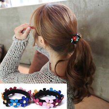 2pcs Women Girls Flower PonyTail Elastic Rubber Hair Band Tie Rope Ring Chic