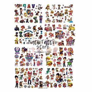 Paw patrol Temporary Tattoo Sheets stickers Children Kids Birthday Party Bag
