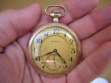 Enameled Gold GF Illinois Burlington 21 Jewel RAILROAD Grade Pocket Watch 16S