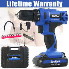Rechargeable Wireless Cordless Electric Screwdriver Drill Portable Spare Battery