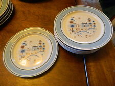 8  Primitif Museum Collection Stoneware salad plates 7 3/4''