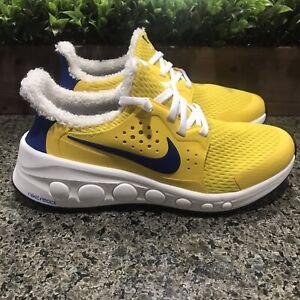 Nike Cruzrone React Running Shoes Yellow Blue CD7307-400 Men Size 7 Women 8.5