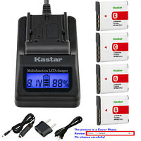 Kastar Battery LCD Fast Charger for Sony NP-BG1 Sony Cyber-shot DSC-HX5V Camera